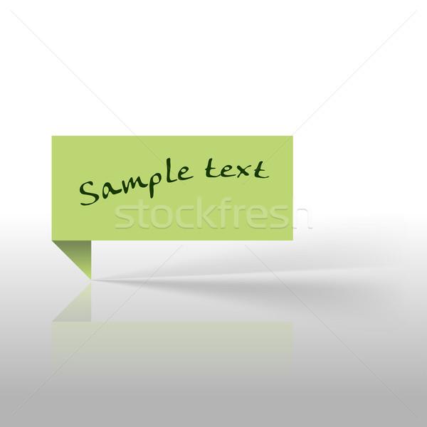 зеленый наклейку тег серый пространстве дизайна Сток-фото © vlastas