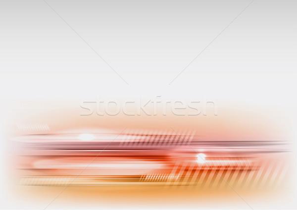 аннотация линия Tech свет серый интернет Сток-фото © vlastas