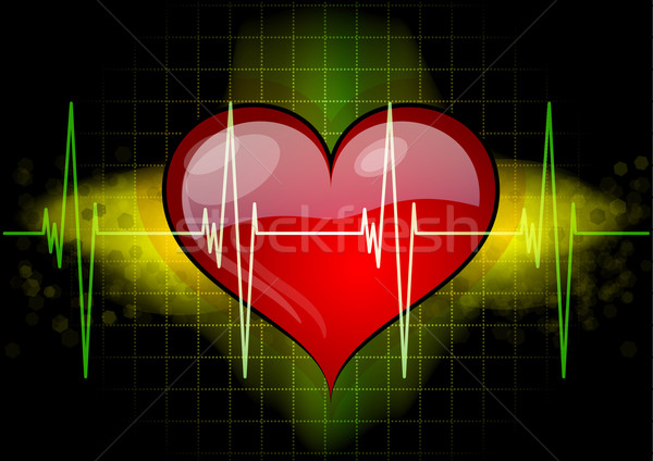 heart with ekg Stock photo © vlastas