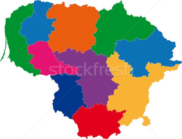 Lithuania map Stock photo © Volina