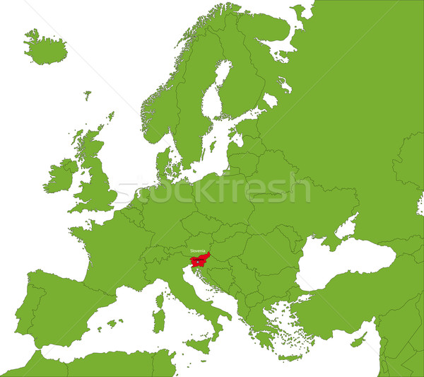 Slovenia mappa posizione Europa continente città Foto d'archivio © Volina