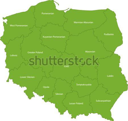 Verde occidentale Asia mappa mondo sfondo Foto d'archivio © Volina