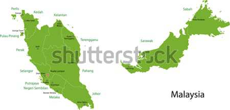 Green Malaysia map Stock photo © Volina