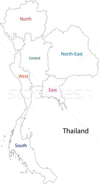 Таиланд карта фон диаграммы Сток-фото © Volina