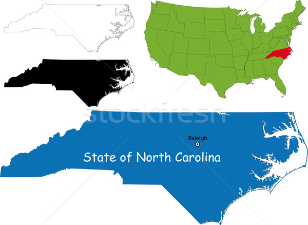 North carolina map Stock photo © Volina