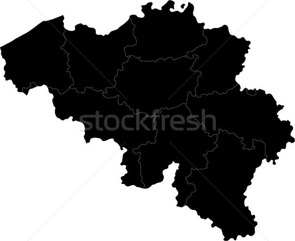 Black Belgium map Stock photo © Volina