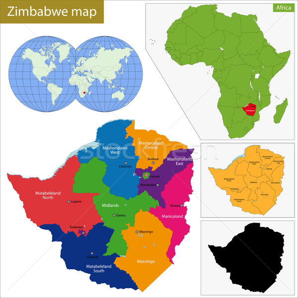 Zimbabwe map Stock photo © Volina