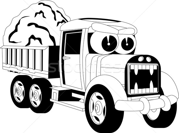 Cartoon lorry car Stock photo © Volina