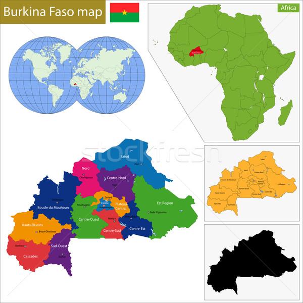 Burkina Faso map Stock photo © Volina