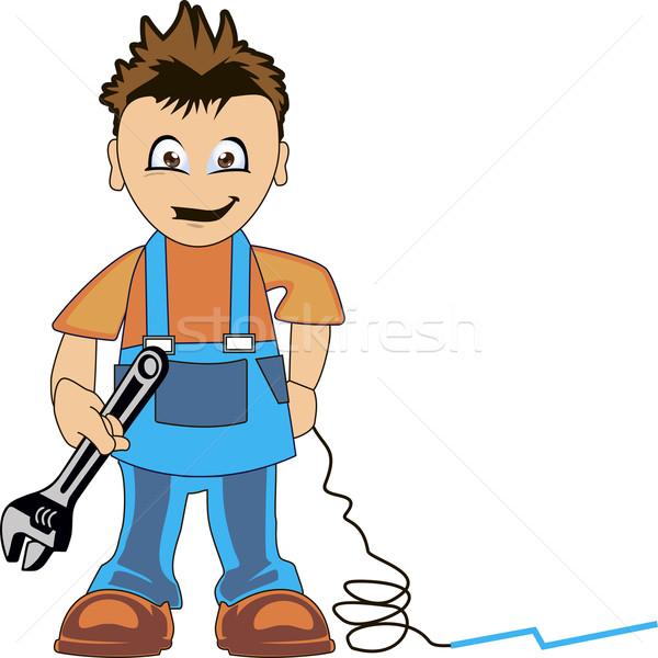 водопроводчика одежды работу инструментом стороны строительство Сток-фото © Volina