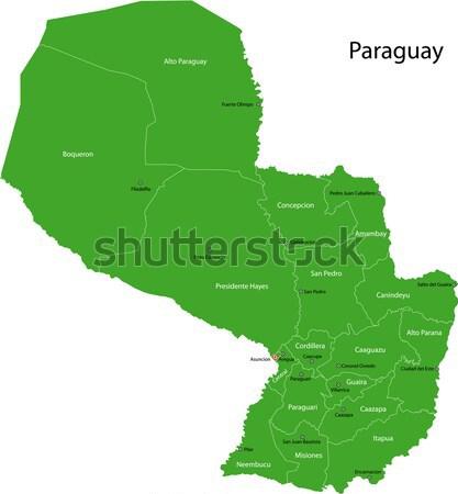 Verde Guatemala mapa departamento preto Foto stock © Volina