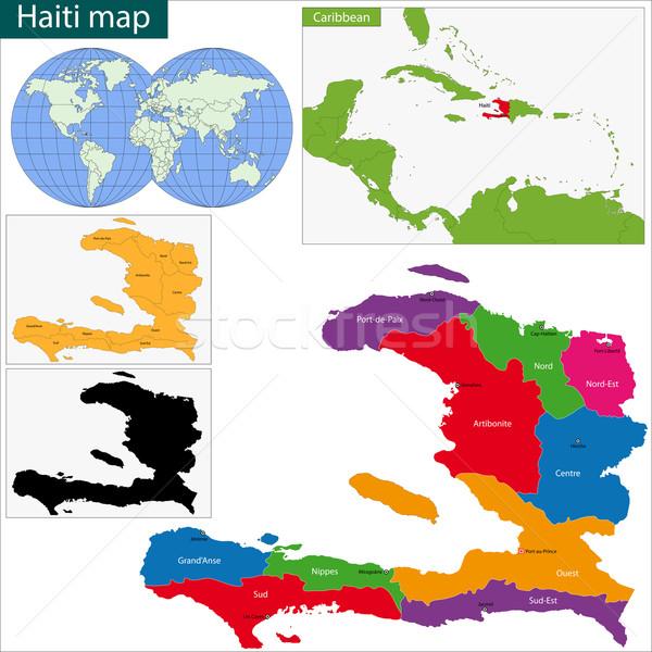 Guatemala map Stock photo © Volina