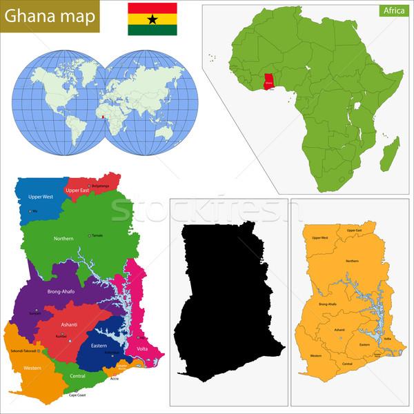 Ghana map Stock photo © Volina