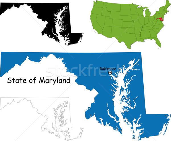 Maryland map Stock photo © Volina