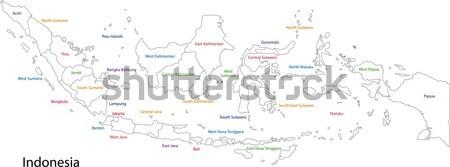 Contorno Malaysia mappa design verde grafico Foto d'archivio © Volina
