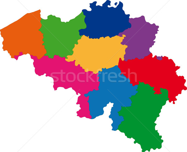 Belgium map Stock photo © Volina
