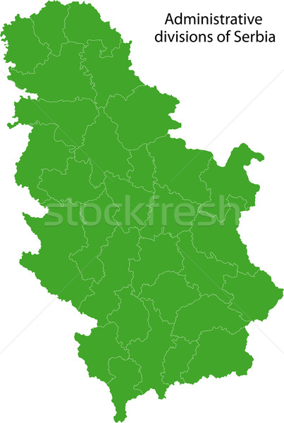 Green Serbia map Stock photo © Volina