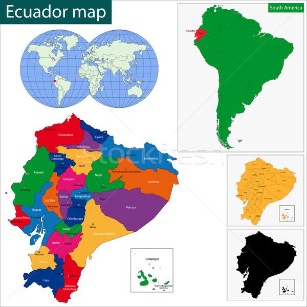 Ecuador map Stock photo © Volina