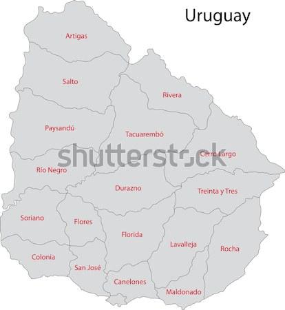 Stock photo: Contour Mongolia map