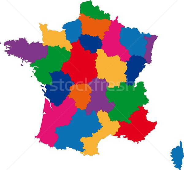 Colour France map Stock photo © Volina
