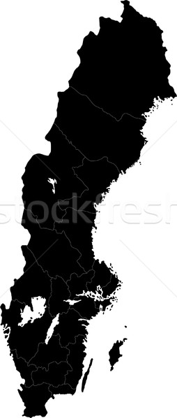 Black Sweden map Stock photo © Volina