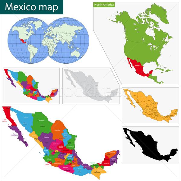 地図 マレーシア カラフル メキシコ 首都 ストックフォト © Volina
