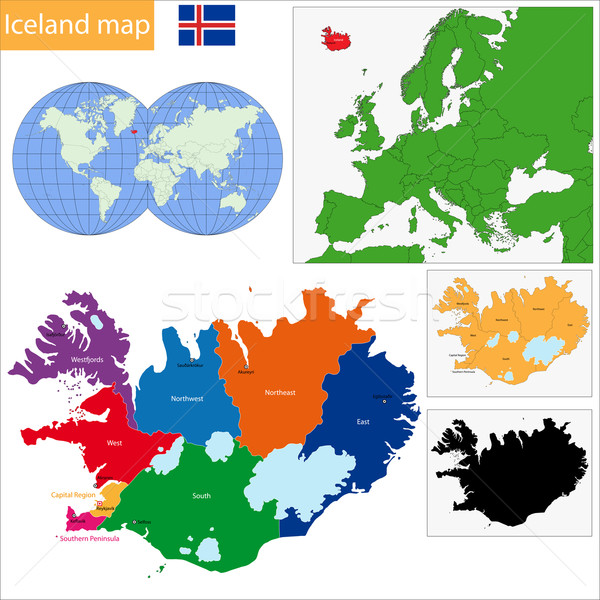 Iceland map Stock photo © Volina