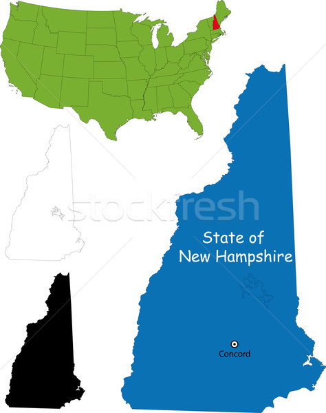 New Hampshire kaart illustratie USA land nieuwe Stockfoto © Volina