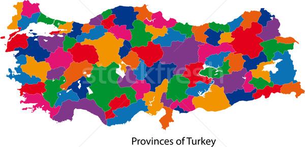 Colorful Turkey map Stock photo © Volina