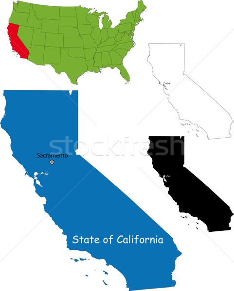 California map Stock photo © Volina