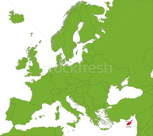 Cyprus map Stock photo © Volina