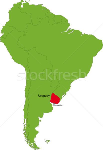 Uruguay harita konum güney amerika kıta dizayn Stok fotoğraf © Volina
