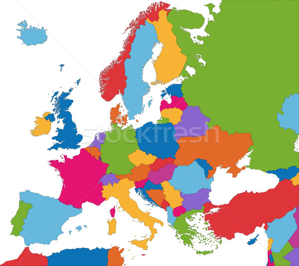 Colorful Europe map Stock photo © Volina