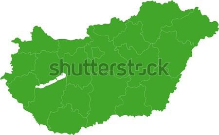 Verde Montenegro mapa administrativo cidade país Foto stock © Volina