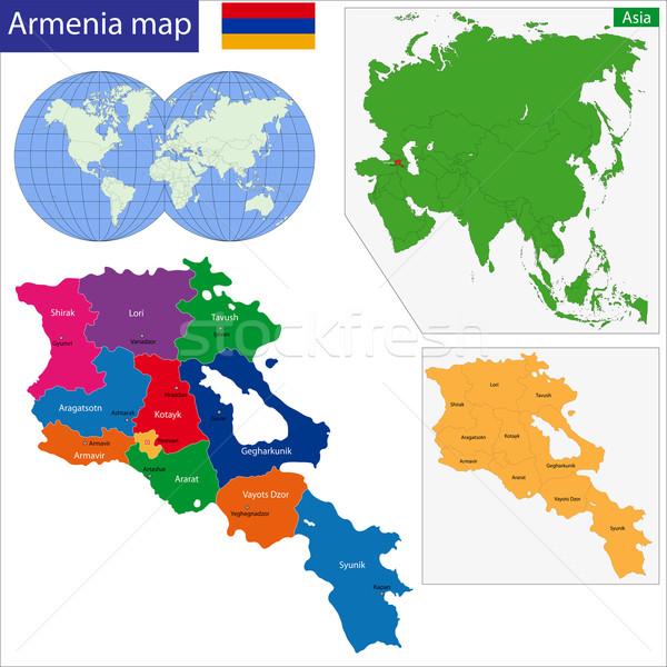 Armenia map Stock photo © Volina