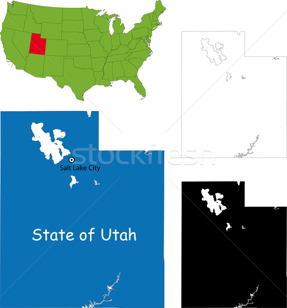 Юта карта иллюстрация США озеро цвета Сток-фото © Volina