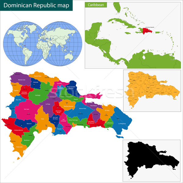 Map of Dominican Republic Stock photo © Volina
