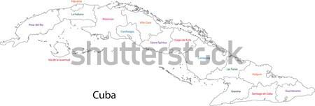 Küba harita şehir dizayn grafik Stok fotoğraf © Volina