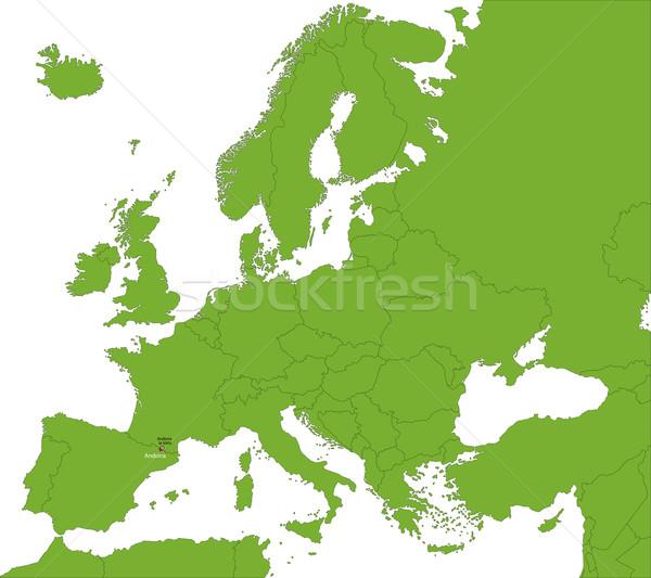 Andorra kaart plaats stad kleur grafiek Stockfoto © Volina