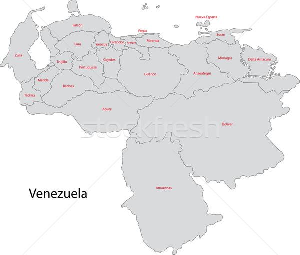 Grey Venezuela map Stock photo © Volina