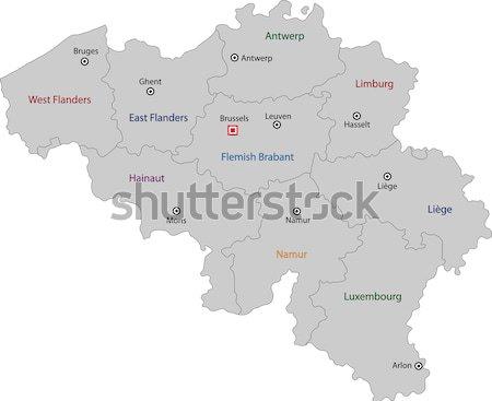 Green Belgium map Stock photo © Volina