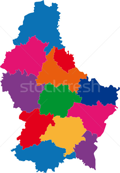 Stock photo: Luxembourg map