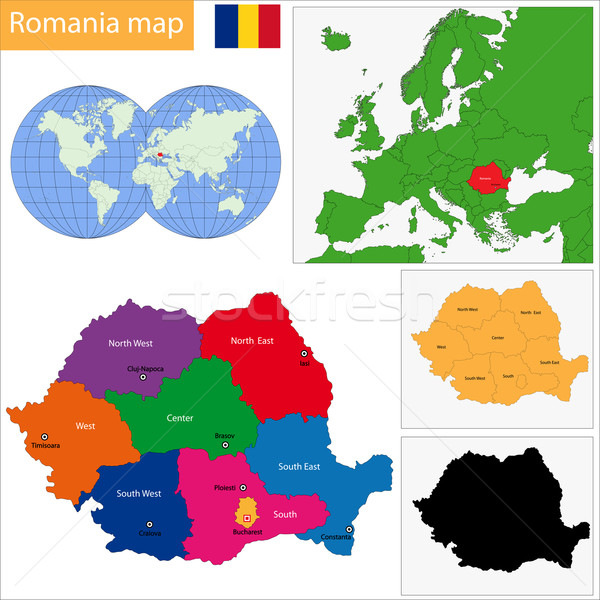 Romania map Stock photo © Volina
