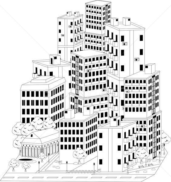 residential quarter Stock photo © Volina
