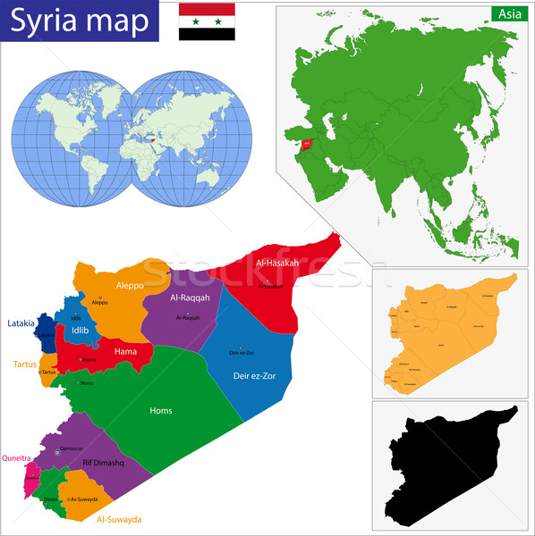 Syria map Stock photo © Volina