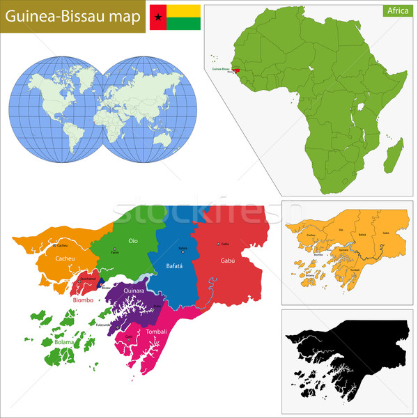 Guinea-Bissau map Stock photo © Volina