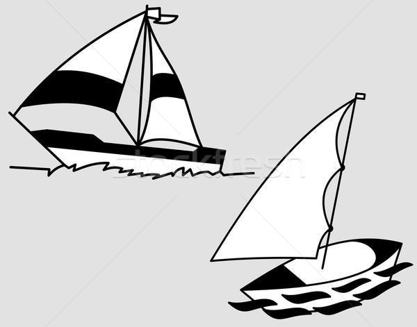 Sailing yacht Stock photo © Volina