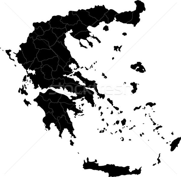 Black Greece map Stock photo © Volina