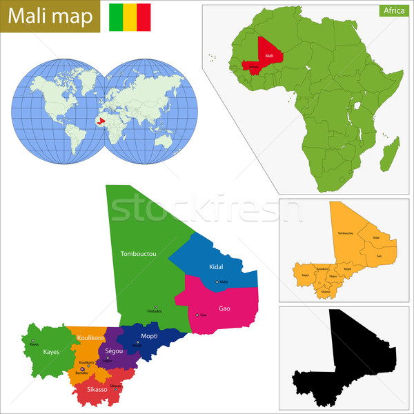 Mali map Stock photo © Volina