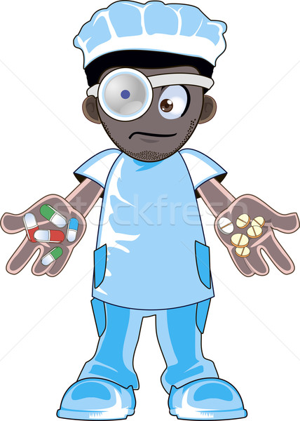 African american doctor Stock photo © Volina